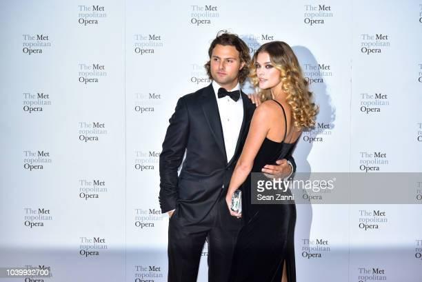 Jack BrinkleyCook and Nina Agdal attend The Metropolitan Opera Opening Night Gala SaintSaens' Samson et Dalila at Lincoln Center on September 24 2018...