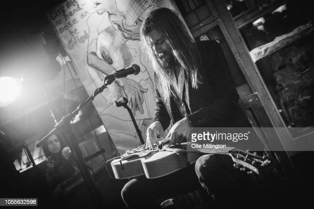 Jack Broadbent performs after Ronnie Wood held a QA session at the launch party for the Confessing The Blues album curated by The Rolling Stones at...