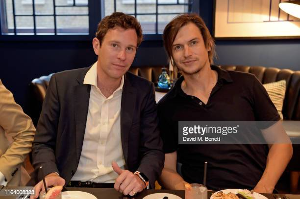 Jack Brooksbank and Craig Coyne attends Casamigos 'Away for August' at The Marylebone Rooms at The Marylebone Hotel on July 24, 2019 in London,...