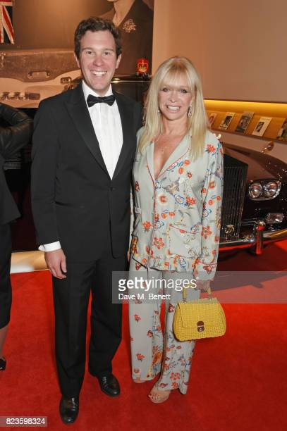 Jack Brooksbank and Jo Wood attend the world premiere of the 'The Great Eight Phantoms A RollsRoyce Exhibition' at Bonhams on July 27 2017 in London...