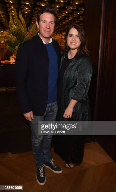 """Jack Brooksbank and Princess Eugenie attend an exclusive dinner hosted by Poppy Jamie to celebrate the launch of her first book """"Happy Not Perfect""""..."""