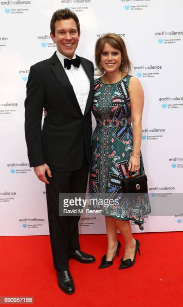 Jack Brooksbank and Princess Eugenie attend the 50th anniversary of The Beatles SGT Pepper Album at Abbey Road Studios for End The Silence and...