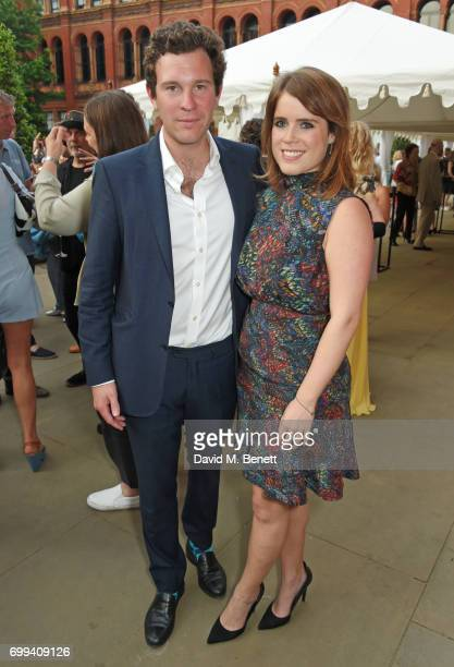 Jack Brooksbank and Princess Eugenie of York attend the 2017 annual V&A Summer Party in partnership with Harrods at the Victoria and Albert Museum on...