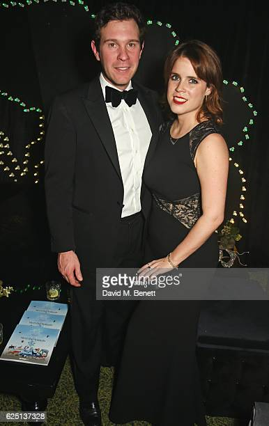 Jack Brooksbank and Princess Eugenie of York attend The Animal Ball 2016 presented by Elephant Family at Victoria House on November 22 2016 in London...