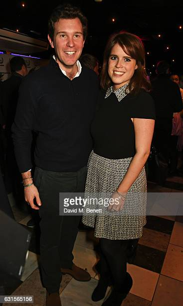 Jack Brooksbank and Princess Eugenie of York attend the launch of Bunga Bunga in Covent Garden on January 12 2017 in London England