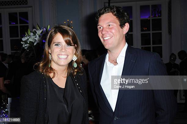 Jack Brooksbank and Princess Eugenie of York attend the second annual Freddie For A Day event in memory of Queen's late frontman Freddie Mercury at...