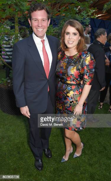 Jack Brooksbank and Princess Eugenie of York attend The Serpentine Galleries Summer Party cohosted by Chanel at The Serpentine Gallery on June 28...