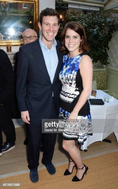 Jack Brooksbank and Princess Eugenie of York attend Tracey Emin's birthday party at Mark's Club on July 3 2014 in London England