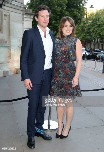 Jack Brooksbank and Princess Eugenie of York attends the V&A summer party at The V&A on June 21, 2017 in London, England.