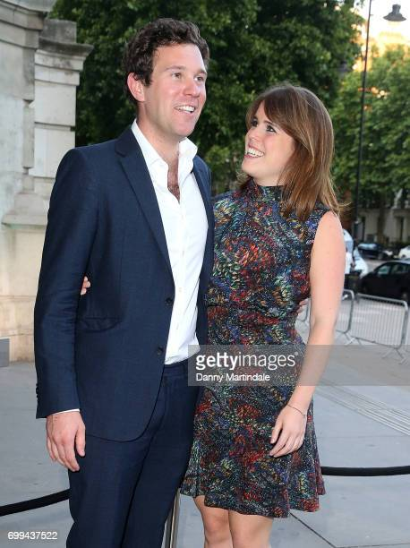 Jack Brooksbank and Princess Eugenie of York attends the VA summer party at The VA on June 21 2017 in London England