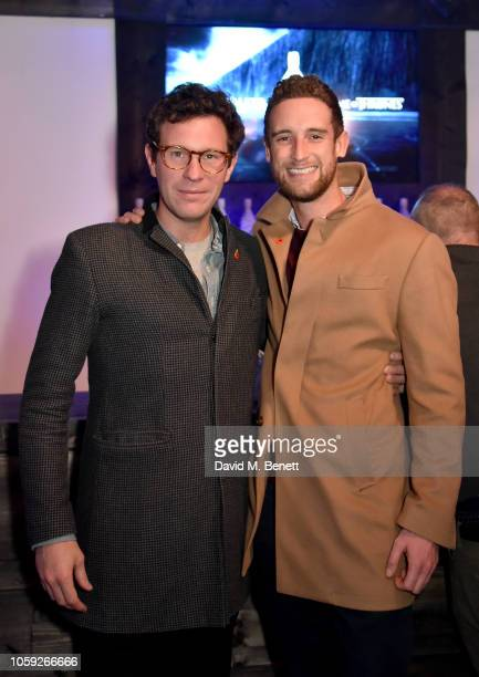 Jack Brooksbank and Tom Reed attend the Johnnie Walker Frozen Forest popup in Shoreditch to celebrate the launch of the limitededition White Walker...