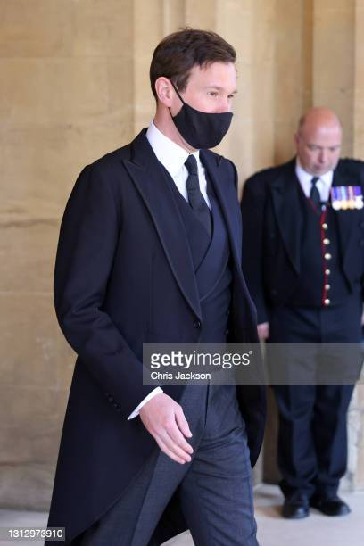 Jack Brooksbank during the funeral of Prince Philip, Duke of Edinburgh at Windsor Castle on April 17, 2021 in Windsor, England. Prince Philip of...