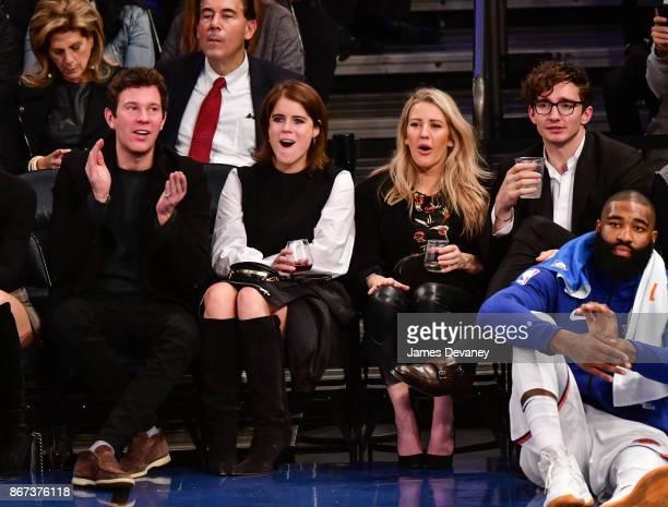 Jack Brooksbank Princess Eugenie of York Ellie Goulding and Caspar Jopling attend the Brooklyn Nets Vs New York Knicks game at Madison Square Garden...