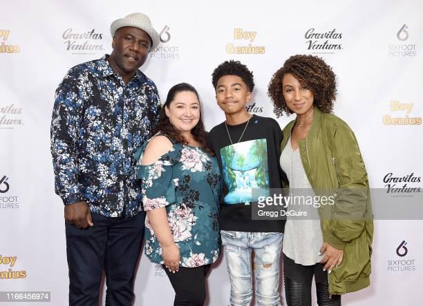 Jack Brown Kiana Brown Miles Brown and Cyndee Brown arrive at the Premiere Screening Of Boy Genius at Arena Cinelounge on September 6 2019 in...