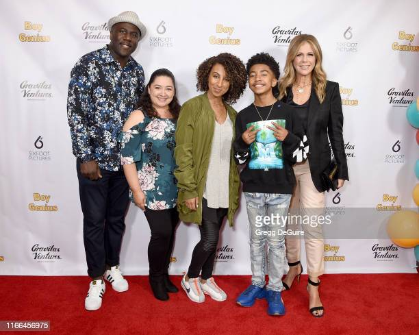 Jack Brown Kiana Brown Miles Brown Cyndee Brown and Rita Wilson arrive at the Premiere Screening Of Boy Genius at Arena Cinelounge on September 6...