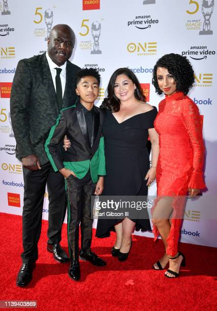 Jack Brown Miles Brown Cyndee Brown and Kiana Ledé Brown attend the 50th NAACP Image Awards at Dolby Theatre on March 30 2019 in Hollywood California