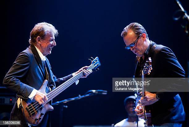 Jack Bruce and Joe Bonamassa performing live on stage the the London Guitar Festival on June 4 2011
