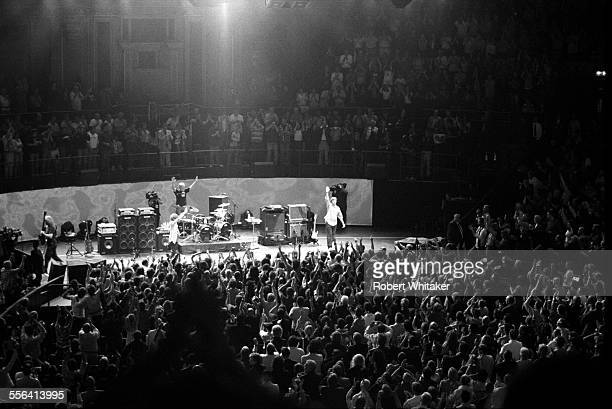 Jack Bruce Ginger Baker and Eric Clapton of Cream pictured on stage during their reunion concert at The Royal Albert Hall May 2005