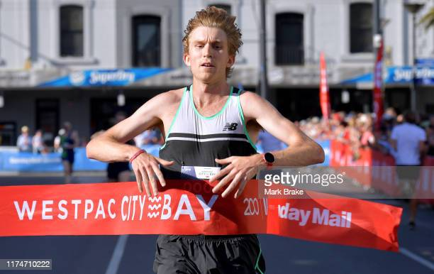 Jack Bruce of Queensland wins the Road Running Championships of Australia during the City to Bay Australian Road Championships on September 15 2019...