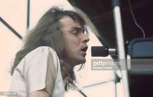Jack Bruce performs on stage, United Kingdom, 1972.