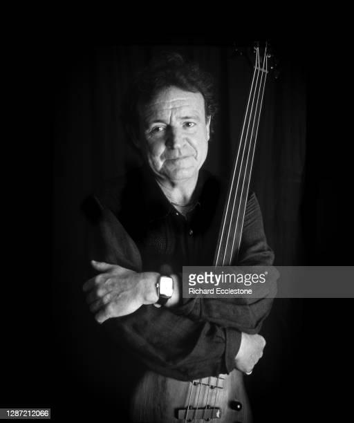 Jack Bruce, Scottish bassist, singer-songwriter, musician and composer, portrait at home, United Kingdom, 2001.