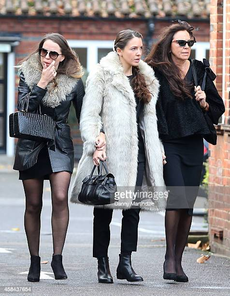 Jack Bruce wife Margrit Seyffer and daugters Natascha Bruce aka Aruba Red and Kyla Bruce attend the funeral of Jack Bruce at Golders Green...