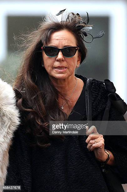 Jack Bruce wife Margrit Seyffer attends the funeral of Jack Bruce at Golders Green Crematorium on November 5 2014 in London England