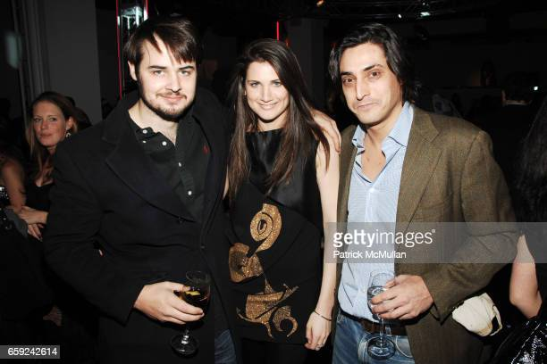 Jack Bryan Davina Catt and Adam Shugar attend VOGUE and BMW party to celebrate the new 2009 BMW 7 Series with Free Arts NYC at 122 West 26th Street...