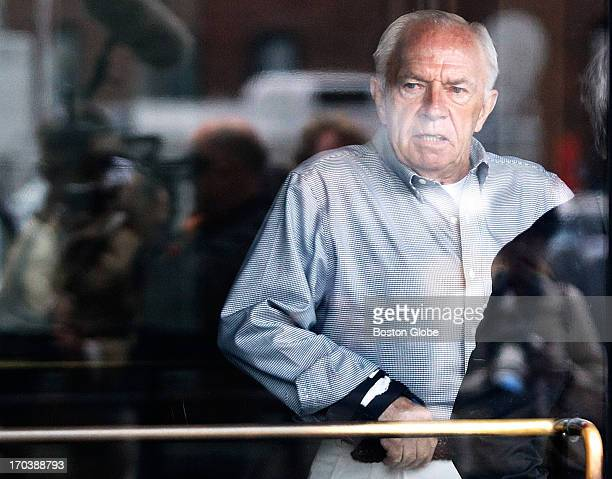 "Jack Bulger, brother of accused mob boss James ""Whitey"" Bulger, leaves the courthouse after attending the first day of the trial. James ""Whitey""..."