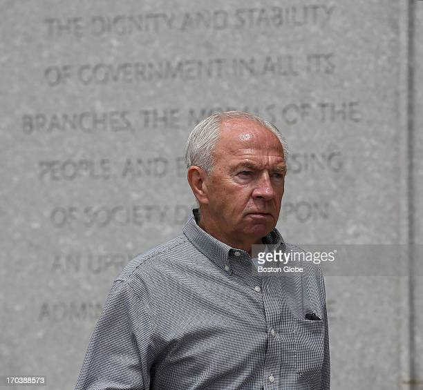 "Jack Bulger, brother of James ""Whitey"" Bulger, leaves the courthouse. James ""Whitey"" Bulger's trial begins at the John Joseph Moakley United States..."