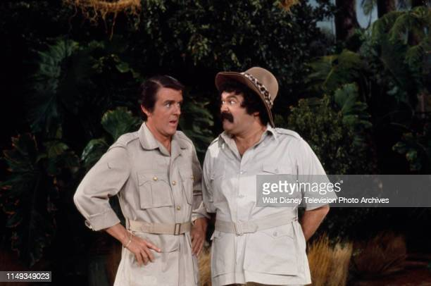 Jack Burns Avery Schreiber appearing in explorer themes sketch on the ABC tv series 'The Burns and Schreiber Comedy Hour'