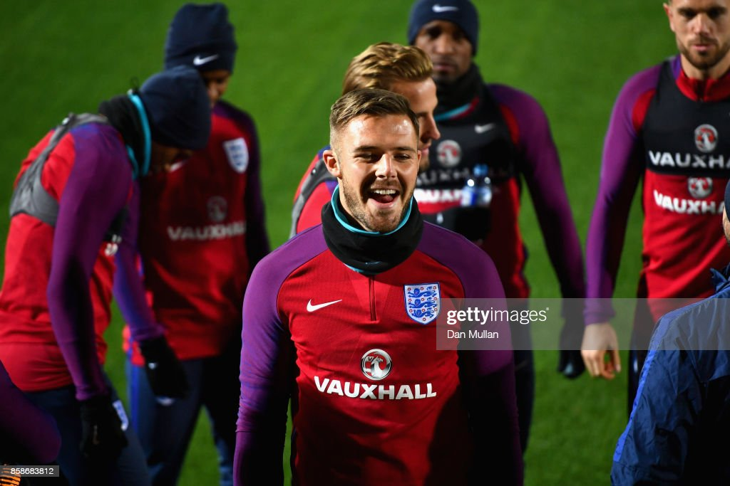 Jack Butland during an England Training Session at The LFF Stadium in Vilnius at a Media Access day on October 7, 2017 in Vilnius,