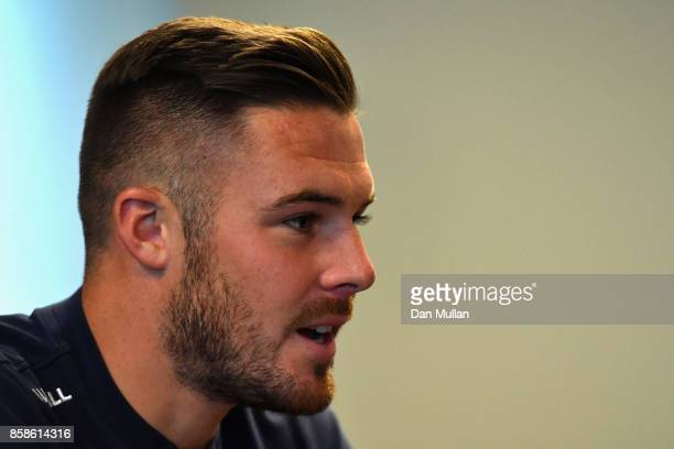 Jack Butland of England during an England press conference at the Novotel in Vilnius at a Media Access day on October 7 2017 in Vilnius
