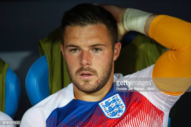 Jack Butland of England during the 2018 FIFA World Cup Russia group G match between Tunisia and England at Volgograd Arena on June 18 2018 in...