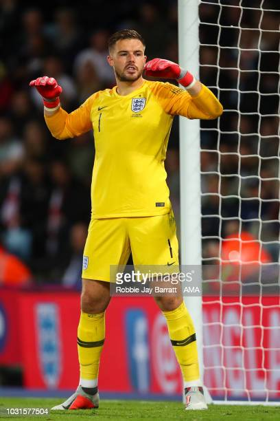 Jack Butland of England during the International Friendly match between England and Switzerland at The King Power Stadium on September 11 2018 in...