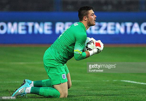 Jack Butland of England in action during the UEFA U21 Championship Playoff Second Leg match between Croatia and England at the Stadion Hnk Cibalia on...