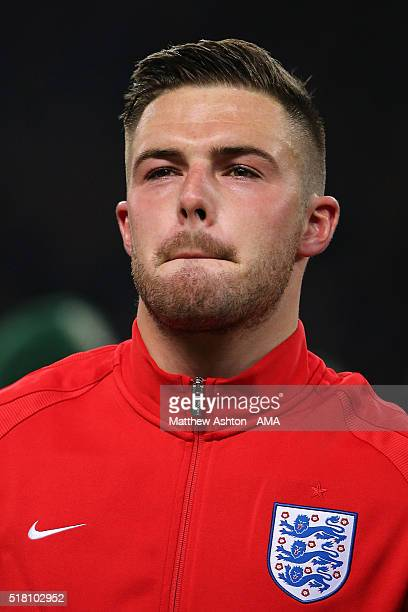 Jack Butland of England looks on during the International Friendly match between Germany and England at Olympiastadion on March 26 2016 in Berlin...