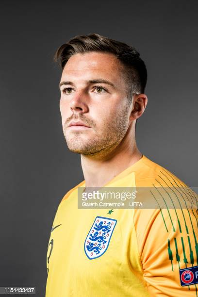 Jack Butland of England poses for a portrait at St Georges Park on June 04 2019 in BurtonuponTrent England
