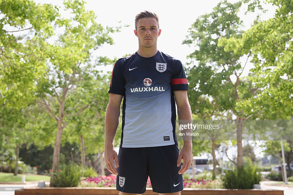Jack Butland of England poses for photos during a England U21's Press Conference at Caesarea Golf Club on June 3, 2013 in Netanya, Israel.