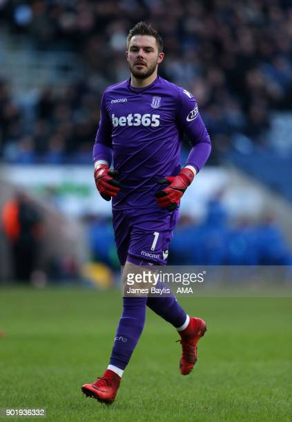 Jack Butland of Stoke City during The Emirates FA Cup Third match between Coventry City and Stoke City at Ricoh Arena on January 6 2018 in Coventry...