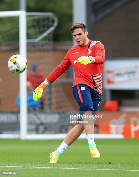 Jack Butland of Stoke City during the Pre Season Friendly match between Burton Albion and Stoke City at the Pirelli Stadium on July 16 2016 in Burton...