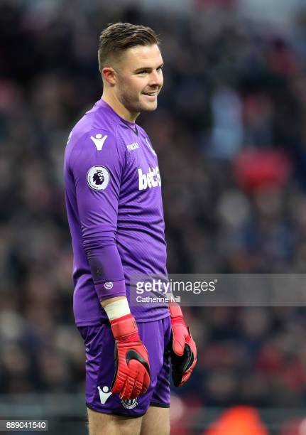 Jack Butland of Stoke City during the Premier League match between Tottenham Hotspur and Stoke City at Wembley Stadium on December 9 2017 in London...