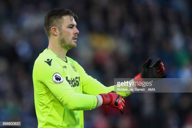Jack Butland of Stoke City during the Premier League match between Huddersfield Town and Stoke City at John Smith's Stadium on December 26 2017 in...