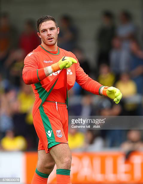 Jack Butland of Stoke City during the PreSeason Friendly match between Burton Albion and Stoke City at Pirelli Stadium on July 16 2016 in...