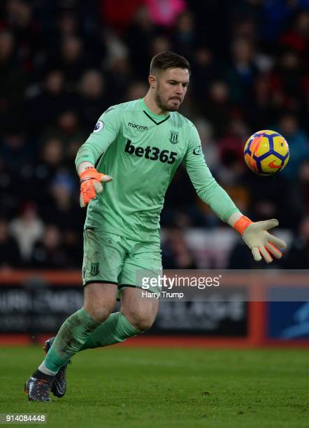 Jack Butlandof Stoke City during the Premier League match between AFC Bournemouth and Stoke City at the Vitality Stadium on February 3 2018 in...