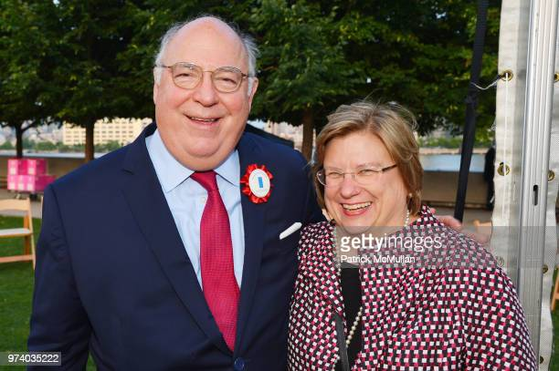 Jack Calaman and Marjorie Nesbitt attend the Franklin D Roosevelt Four Freedoms Park's gala honoring Founder Ambassador William J Vanden Heuvel at...