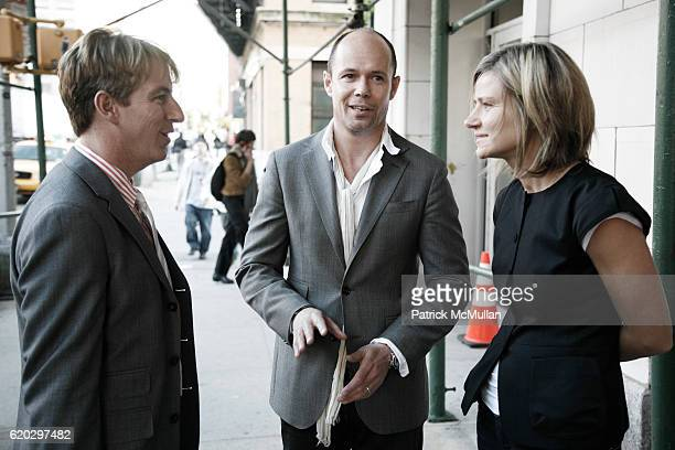 Jack Calhoun Michael Anderson and Alessandra Brunialti attend BANANA REPUBLIC 30 Fall Holiday Collection 2008 at EXIT ART on April 29 2008 in New...