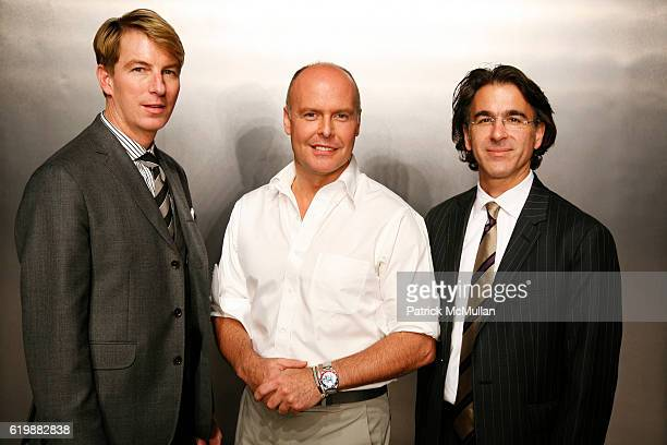 Jack Calhoun Simon Kneen and Peter DeLuca attend BANANA REPUBLIC'S Spring/Summer 2009 Collections by SIMON KNEEN at Cedar Lake on October 21 2008 in...