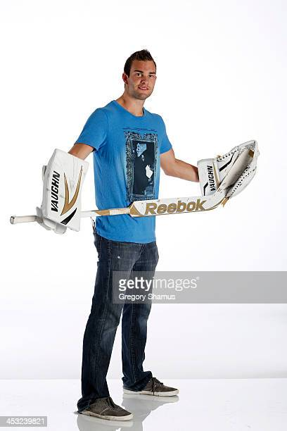 Jack Campbell of the Dallas Stars poses for an NHLPA The Players Collection portrait at The Westin Harbour Castle hotel on August 27 2012 in Toronto...