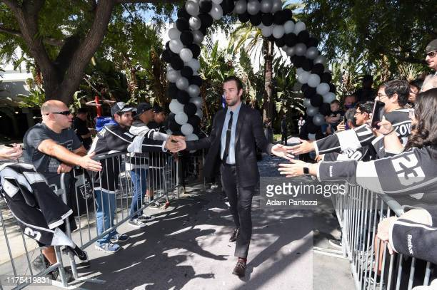 Jack Campbell of the Los Angeles Kings arrives before the Los Angeles Kings game against the Nashville Predators at STAPLES Center on October 12 2019...